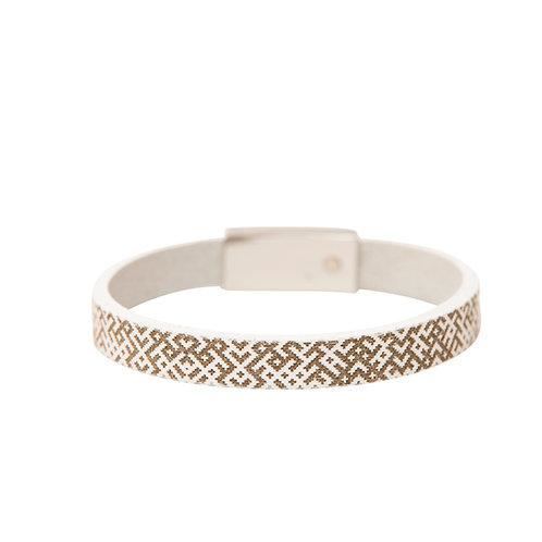 Slim Lielvardes belt pattern bracelet