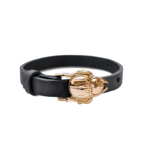 Gold Scarab Buckle Bracelet