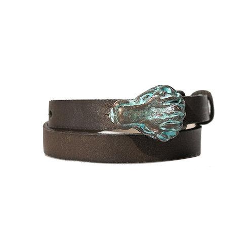 Rustic Lion buckle bracelet