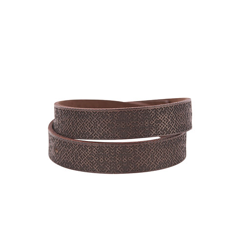Brown double wrap Lielvardes belt bracelet