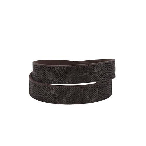 Black double wrap Lielvardes belt bracelet