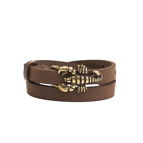 Bronze Scorpion Buckle Bracelet