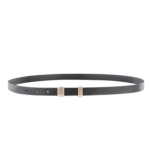 Skinny belt with ascetic matte buckle