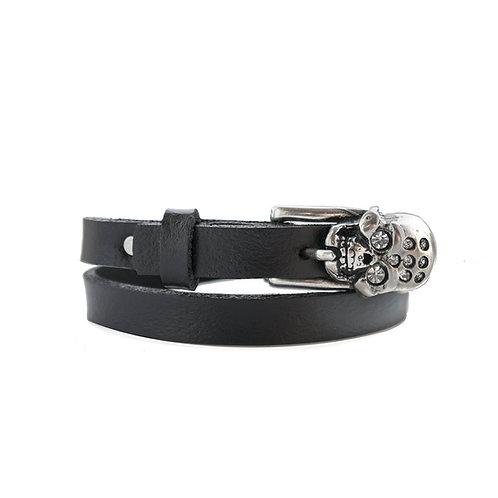 Silver Skull Buckle Bracelet