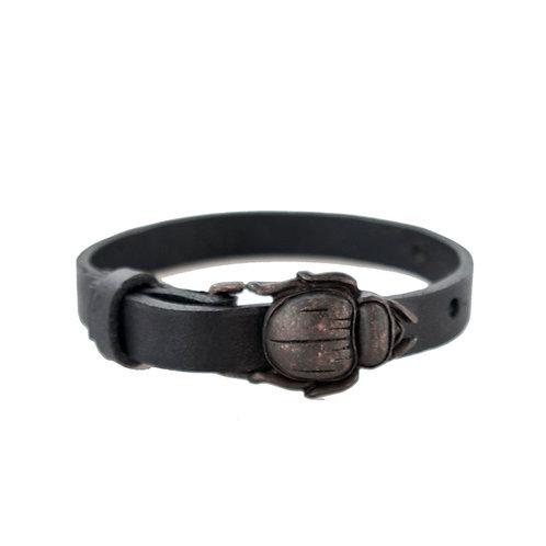 Copper Scarab Buckle Bracelet