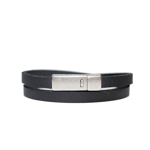 Slim double wrap around bracelet