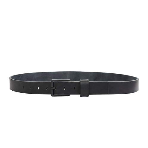 Full Grain Leather Belt with Black Buckle