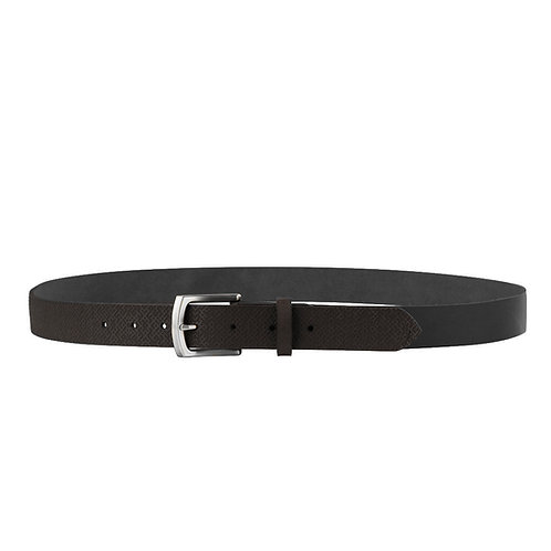Black Leather Belt With Lielvardes pattern