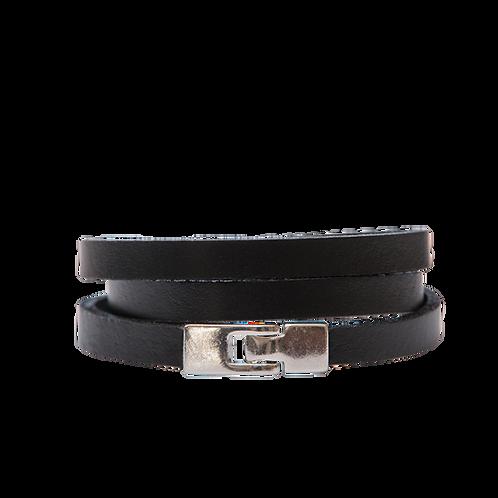 Thin triple wrap bracelet