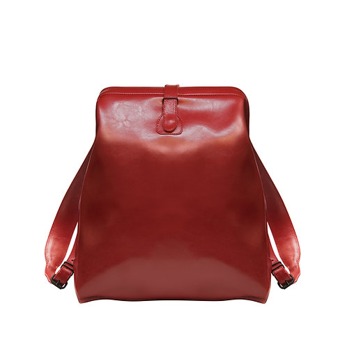 Red Leather Backpack M