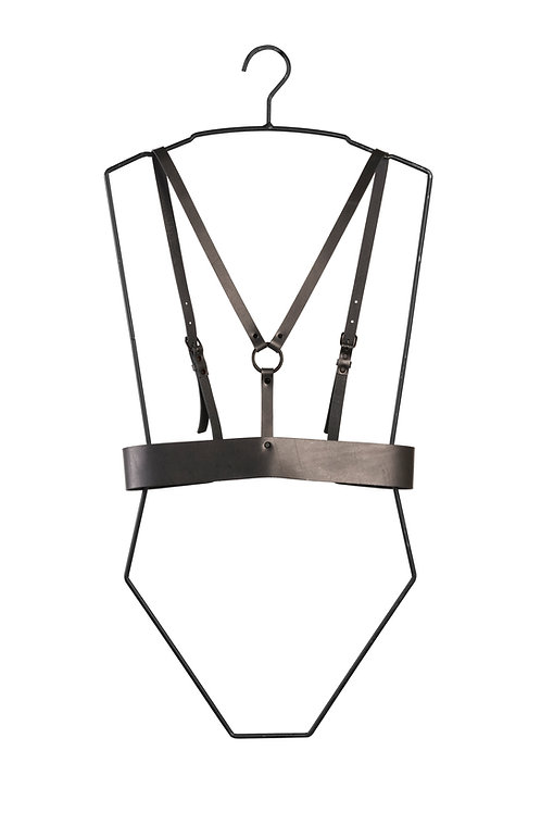 Leather harness with Belt detail