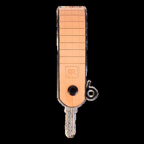 Beige Leather Key Holder