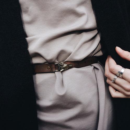 Bronze Wolf Buckle Belt