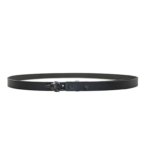 Black Matte Wolf Buckle Belt