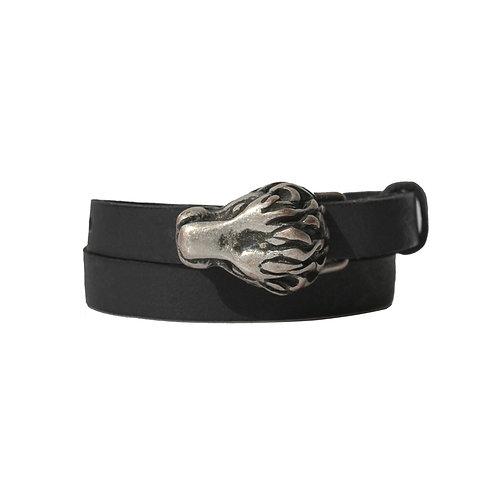 Silver Lion buckle bracelet