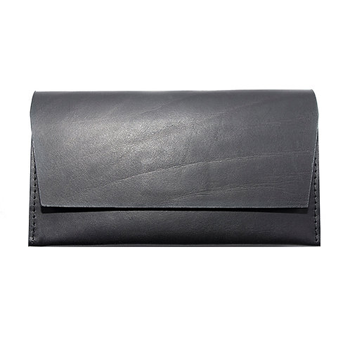 Flap Wallet in Black