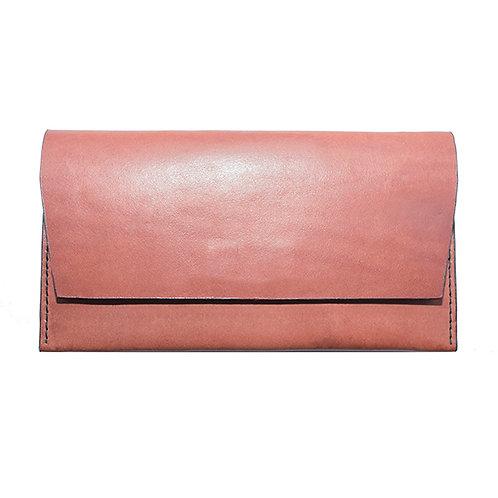 Flap Wallet in Reddish-Brown