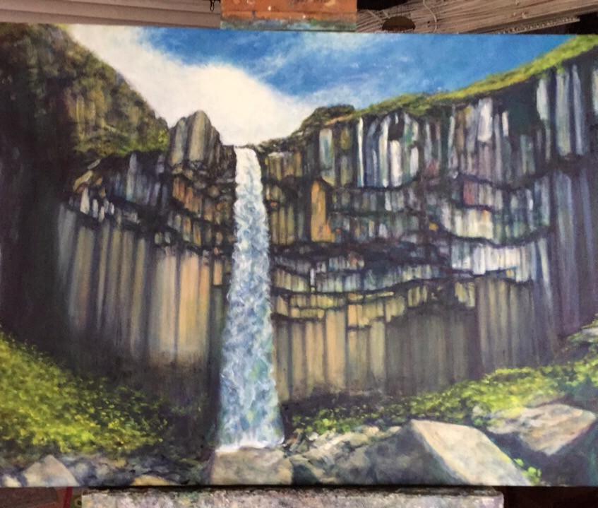 Waterfall Iceland 20_x30_