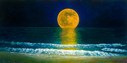 'Moonrise on Misquamicut'