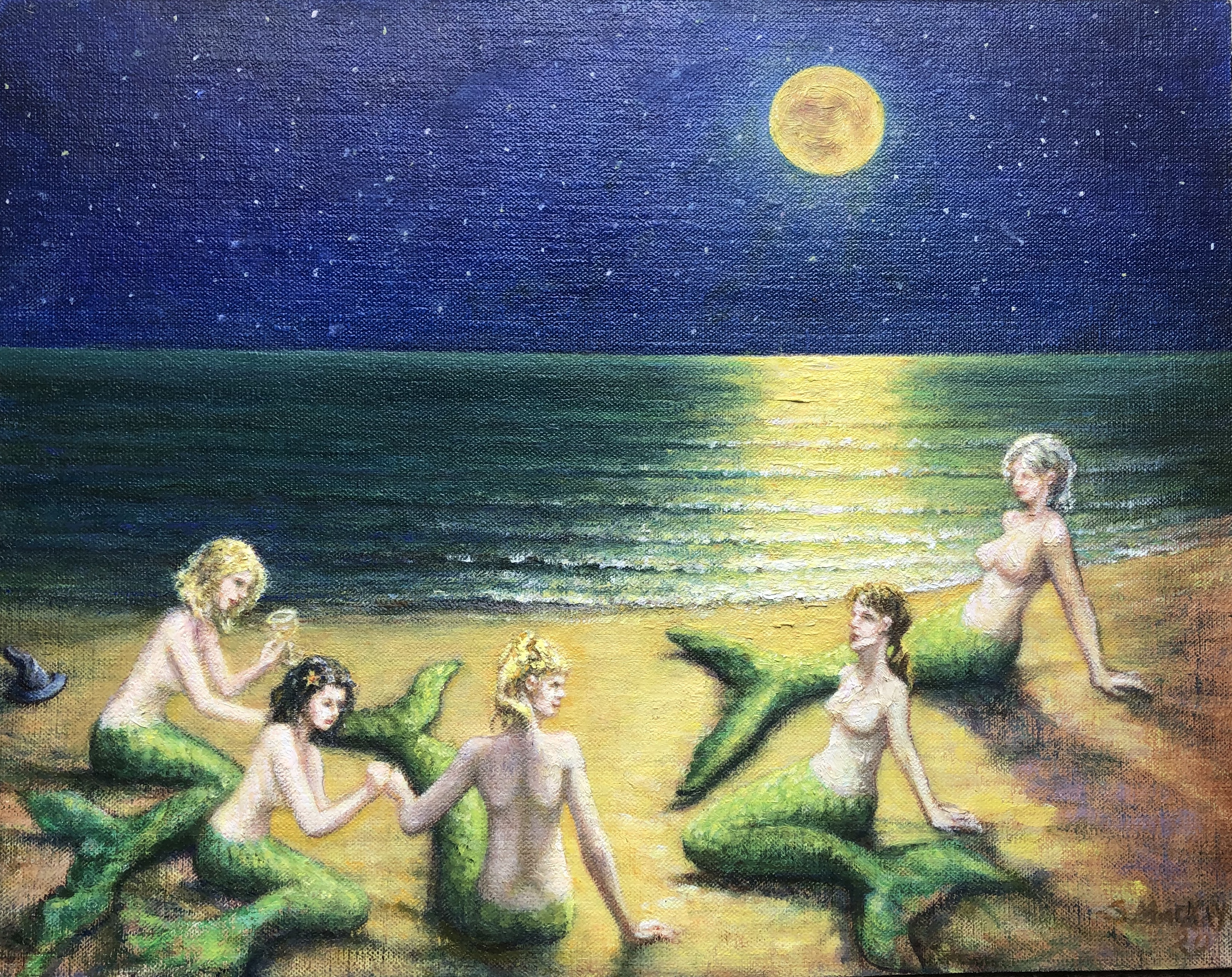 'Mermaids in the Moonlight'