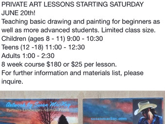 Now teaching private art lessons!