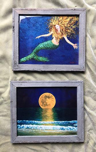'Mermaid' and 'Moonrise, Misquamicut RI'