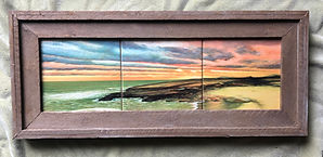 "'Pleasure Beach' (triptych 6""x18"") custo"