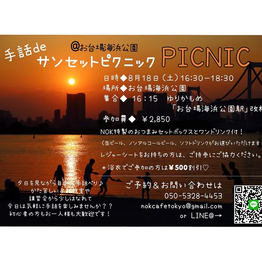 手話deサンセットピクニック@お台場海浜公園