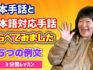 【動画付き】日本手話と日本語対応手話の違いとは?わかりやすくまとめました! #オンライン手話大学