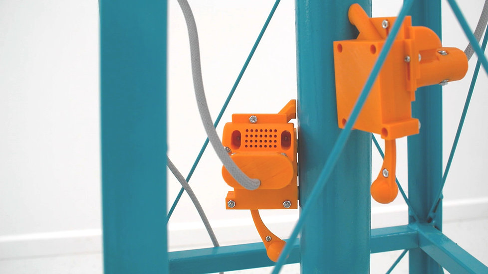 David McDougall, Sculpture, kinetic sculpture, 3d printing, art, visual art, university of Ottawa, electronic media, steel sculptures. , 3d printing, art, sculpture, sculptor, new media, electronic art, figurative art, orange, blue, fast, clicker, drum, artificial intelligence, A.I., water tower, transmission tower, transmission tower art, water tower art, Ottawa, Canadian artist, PLA, Solidworks, professor, kinetic art, kinetic sculpture, 3d, plastic art, steel structure, American, freedom, score, the, and, installation art, contemporary, contemporary art, conceptual, electronic, sound art, olfactory, time,