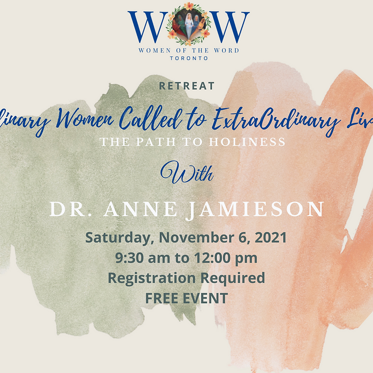 Ordinary Women Called to Extra Ordinary Lives - The Path to Holiness