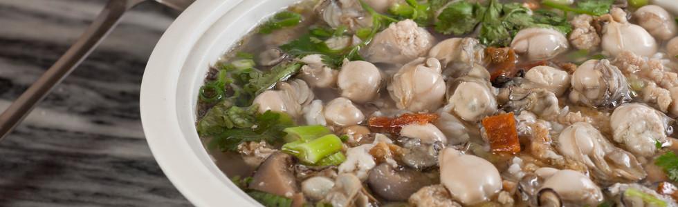 蠔仔肉碎泡粥 Baby Oyster With Mince Meat Congee 每位  Person   HK$49 2 人   Regular  HK$75 小窩  Small      HK$98 大窩  Large      HK$120