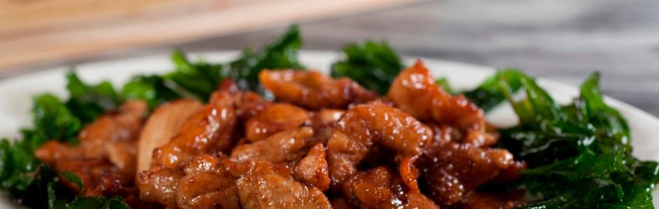 碧綠川椒雞 Fried Sliced Chicken With Chinjew Sauce 例  HK$92