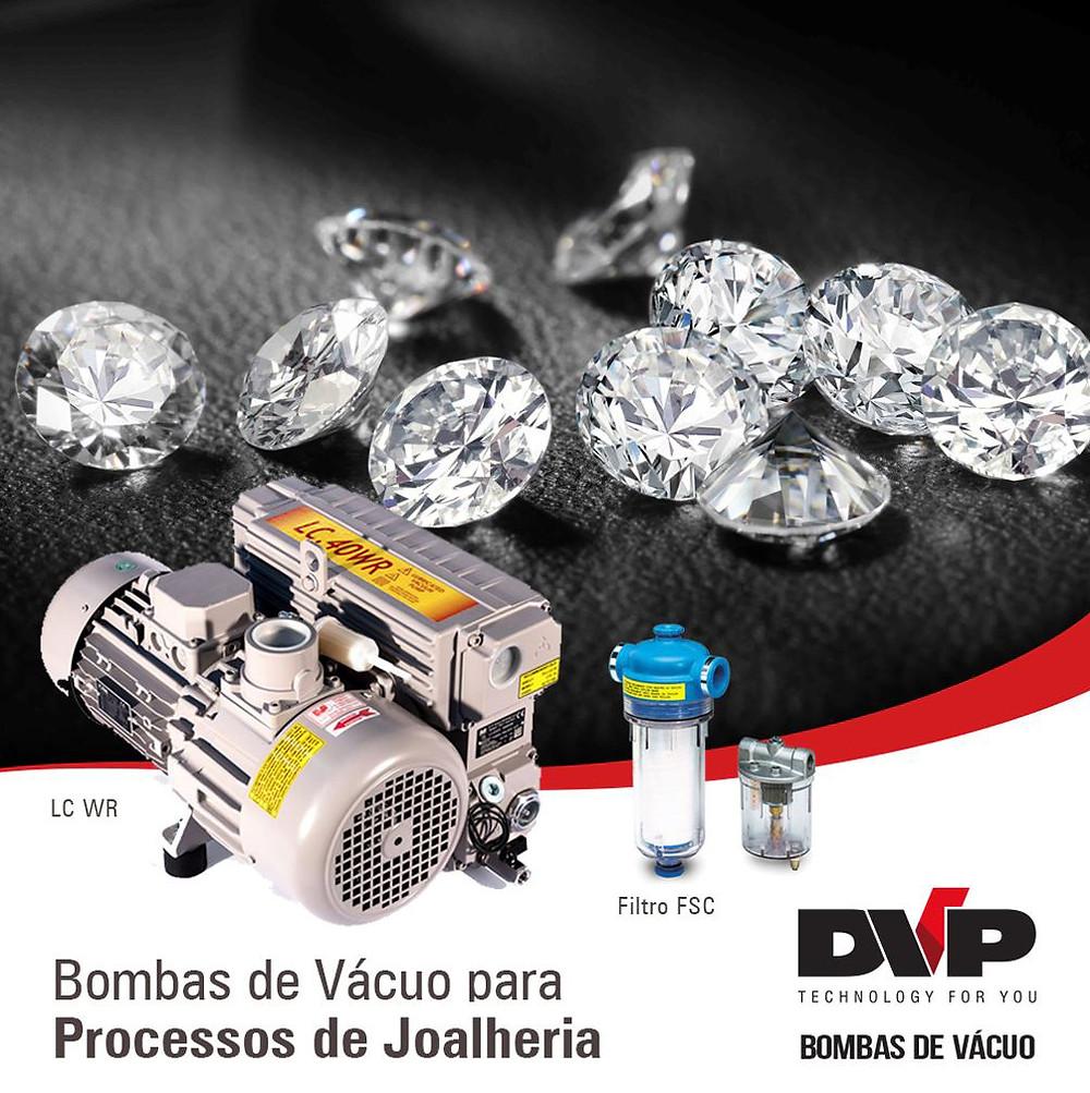 bombas vácuo jóias e semijóias