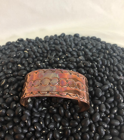 Detailed Copper Cuff Bracelet