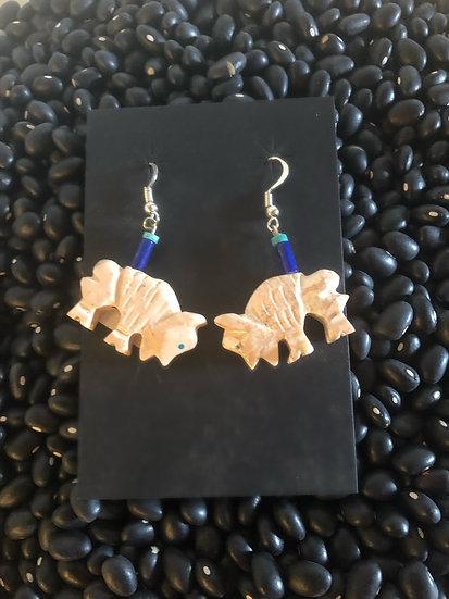 Pipestone Buffalo Earrings