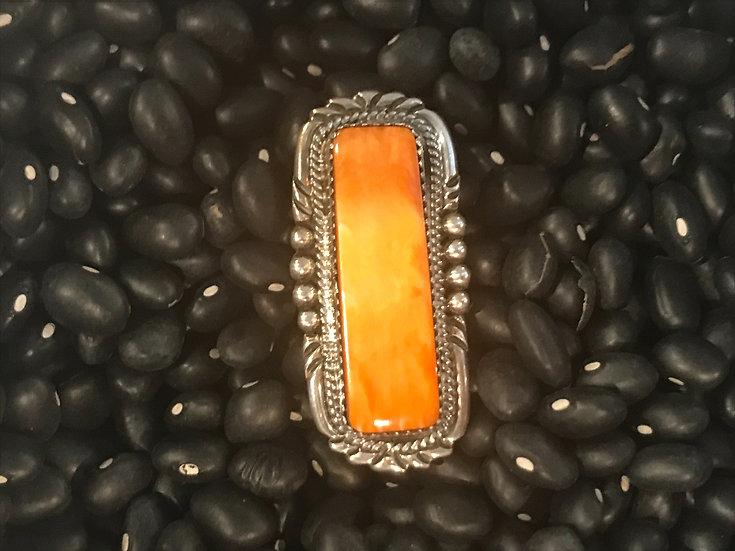 Spiny Oyster Navajo Ring