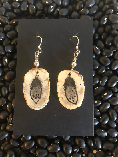Feather Earrings On Antler