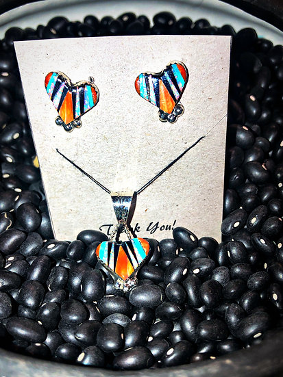 Zuni Earring & Pendant Set