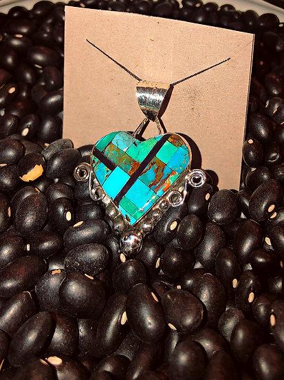 Zuni Heart Pendant
