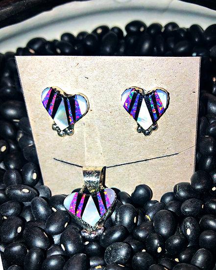 Zuni Earrings & Pendant Set