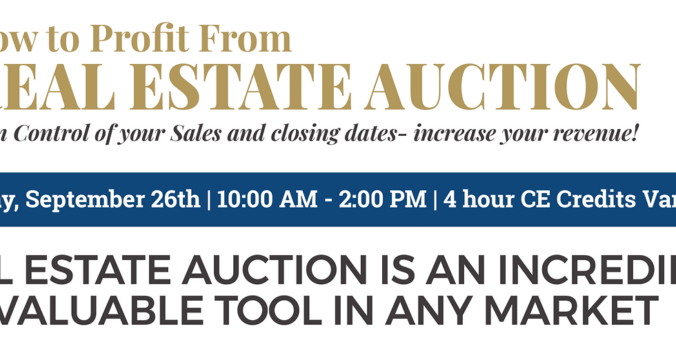 How to Profit from Real Estate Auction