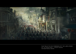 Tianjin street Protestzug