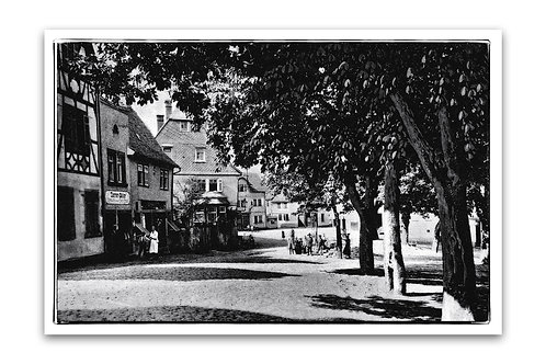 Klassisches s/w Foto auf Alu-Dibond, Marktplatz um 1918