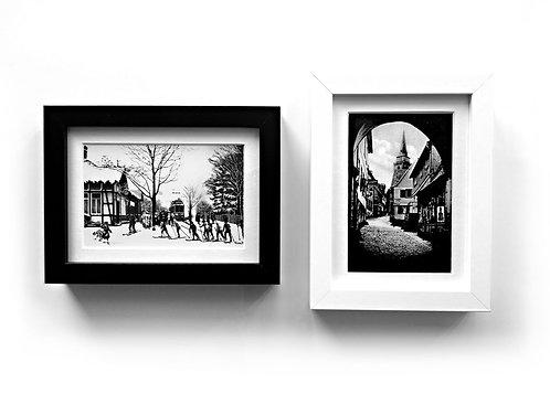 Black and White, 2 Rahmen 21,5 x 15,5 cm, mit s/w Motiv