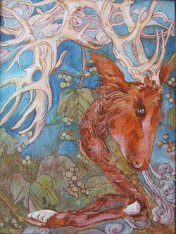 deer scroll I