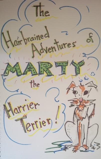 Marty the Harrier Terrier, children's book
