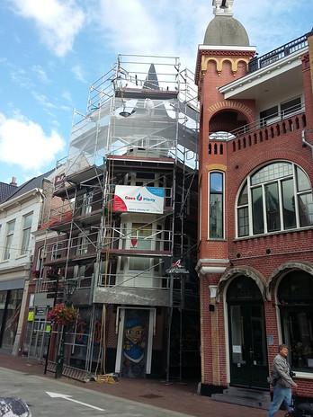 Vervangen dakshingles toren Langestraat Alkmaar