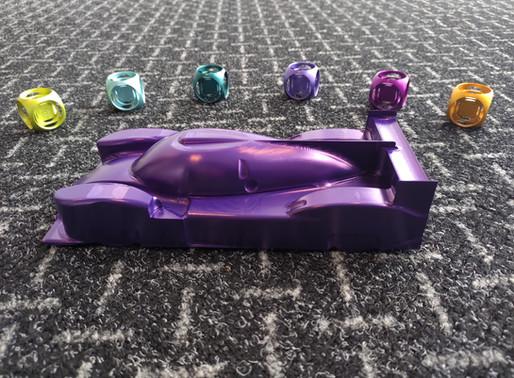 LMP2 racewagen geanodiseerd