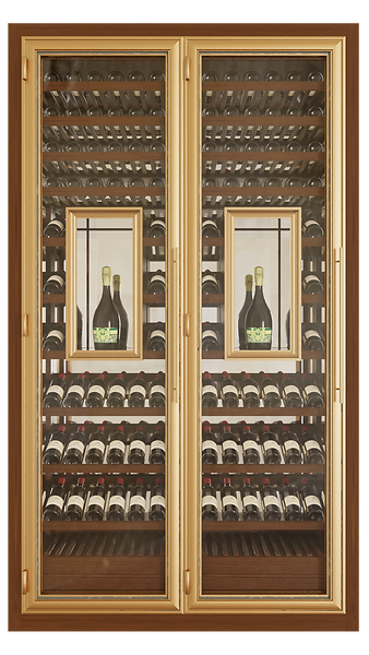 Vinoloq V-line wijnklimaatkast TWO DOORS CABINET    2and 3 temperature zones  two magnum cabinets  w 1595 x h 2780 x d 685mm